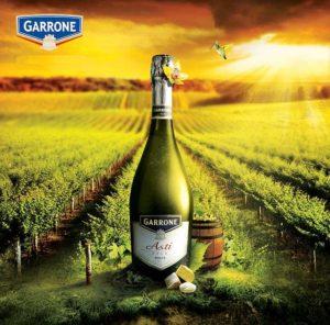 Креативная реклама шампанского Гарроне Асти Garrone Asti