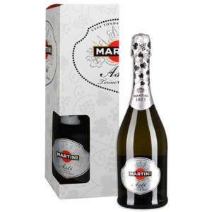 Купить Martini Asti in box, сладкое Шампанское Асти Мартини в подарочной коробке
